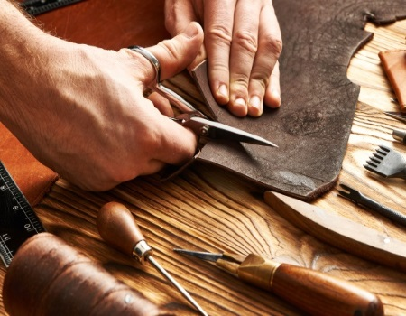 Where does leather come from?